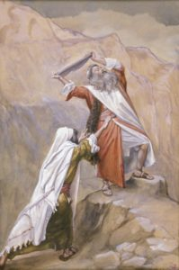 moses destroys the ten commandments
